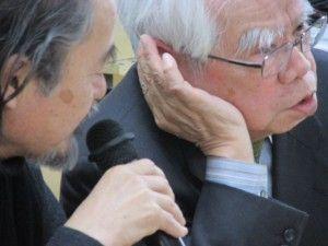 平良敬一氏(写真右)が、建築家・大野正博さん
