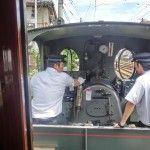 運転席がよく見える窓なしバージョンの電車でした