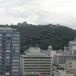 途中で見える松山城