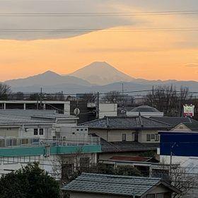 現場の富士山