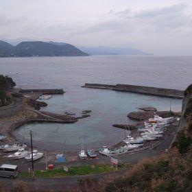 伊豆半島にある小さな港