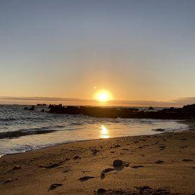 銚子市海鹿島海岸の日の出