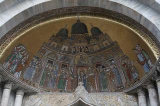 サン・マルコ聖堂のモザイク外観。内部撮影不可