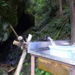 山からの湧き水は今でも共有活用されている