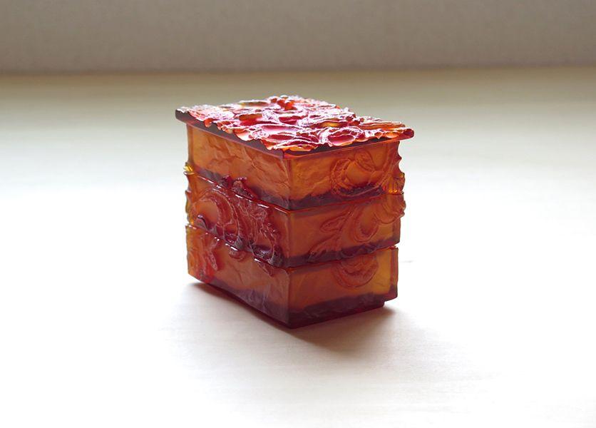 硝子重香盒(赤)