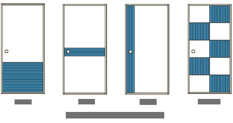 図3/張り方による襖の主な種類