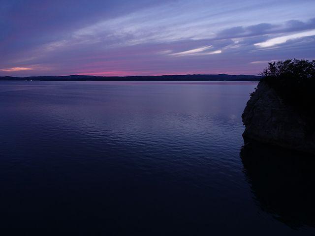 能登島大橋の夕日