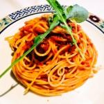 剣崎なんばと紅ズワイ蟹のピリ辛トマトソース