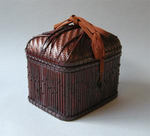 第51回東日本伝統工芸展入選作『五種竹組小筺』