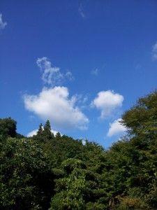 中津江村の秋の空