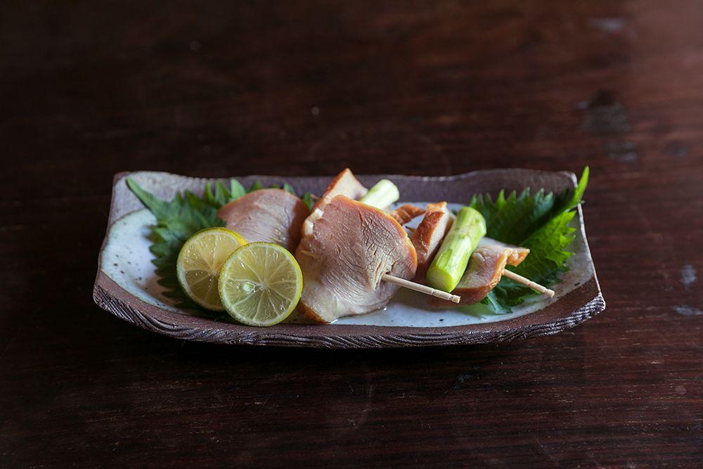 鴨肉とアスパラガスのオードブル