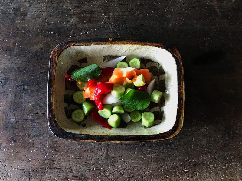 残り野菜のシンプル甘酢漬け