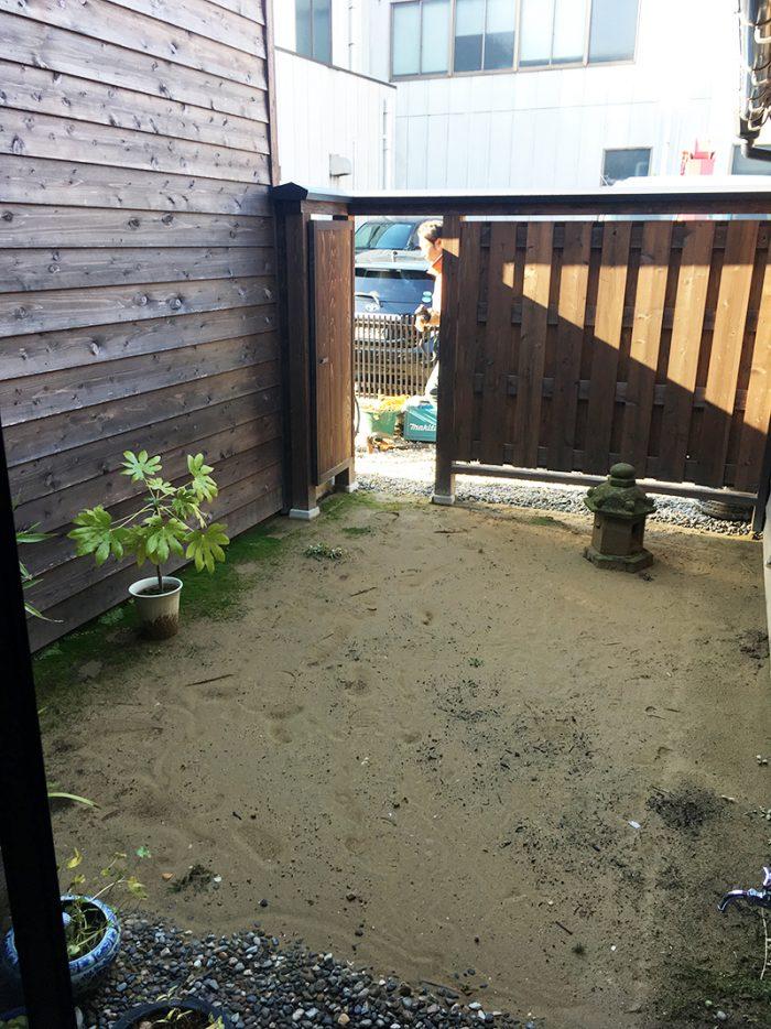 金沢の庭作りはじまる