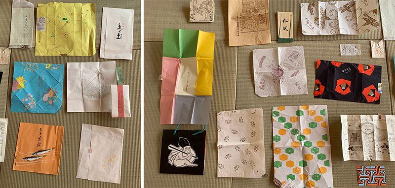 包装紙や掛け紙、帯なども和菓子の魅力のうち。