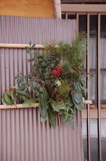 玄関先の正月飾り、swag,ウィリアムスバーグ