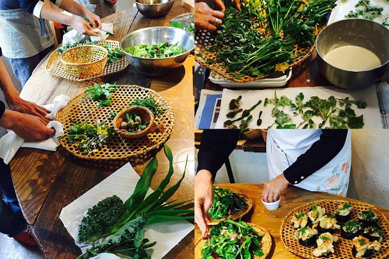 摘みたての野草で料理教室 - アミーンズオーブン