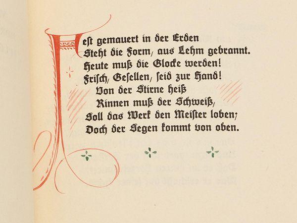 『鐘の歌』シラー ルドルフ出版社第7冊目 1919年
