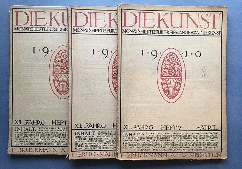 『芸術(Die Kunst)』1910年4月号、1911年6月号と9月号