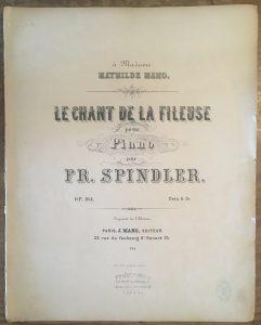 金澤さんにいただいた、パリのMahoという出版社から出た100年ほど前のパリのMahoさんに捧げられた楽譜。まだ弾いていない。