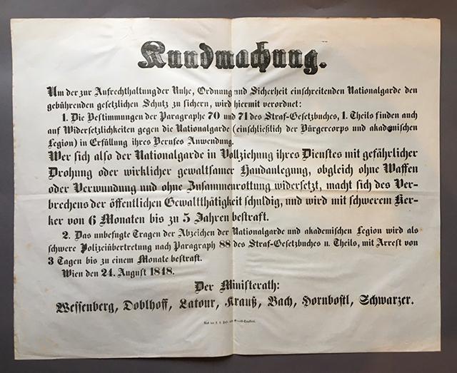 1848年革命のポスター