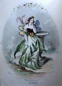 グランヴィルの三色スミレ。1857年のゴネ出版社からの初版後版。